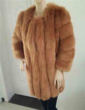 Plus Size Women Long Faux Fox Strips Shaggy Jacket Elegance Warm Thick Fake Pelt Hairy Fabric O Neck Coat Real Photo(China (Mainland))