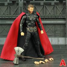 """New Marvel Avengers Infinito Guerra Endgame THOR 6 """"Action Figure Com Tempestade Breake Mjolnir KO SHF das Lendas Odinson boneca Brinquedos(China)"""