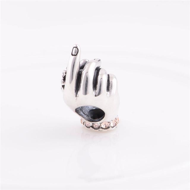 Новый стерлингового серебра 925 бусины европейский шарм семья любовь младенца конструкции DIY ювелирных изделий подходит Chamilia стиль браслет