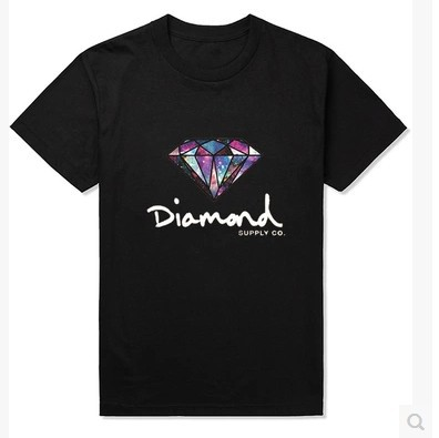 Harajuku tide brand personality men's diamond T shirt supply co loose big yards short sleeve T-shirt(China (Mainland))