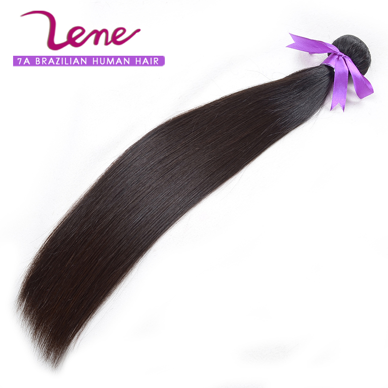 Lene hair 7A high quality Brazilian kinky straight hair weave 100% virgin remy hair extensions no tangle no shedding(China (Mainland))