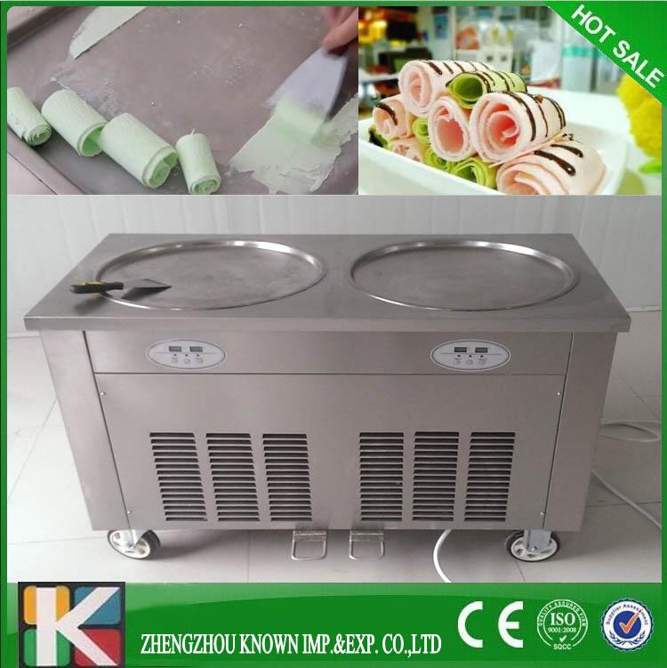 Copper coil pan flat pan fried ice cream machine roll ice cream machine(China (Mainland))