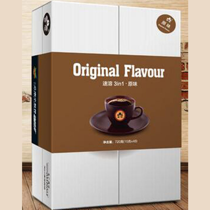 Yunnan Original flavor coffee 3 in 1 instant coffee powder Original in 48 bags total 720g cheap price Original flavor coffee(China (Mainland))