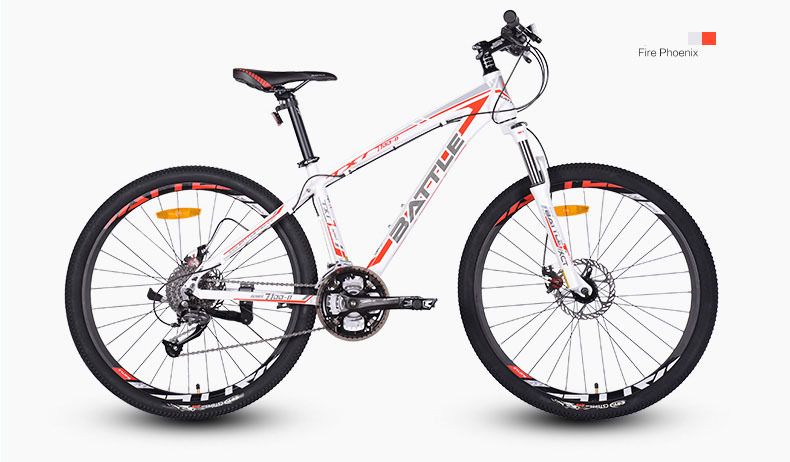 2015 NEW Battle 27Speed 26 Inch Mountain Bike Aluminum Alloy MTB Bicycle Double Disc Brake(China (Mainland))