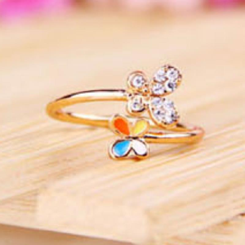 product Wedding bijoux anillos aneis jewelry bague Korea Hot new jewelry butterfly flower Ring  bague femme  engagement ring