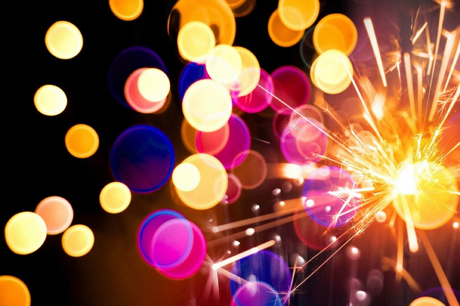 Fireworks sparkler holiday poster fabric cloth silk wall poster print(China (Mainland))