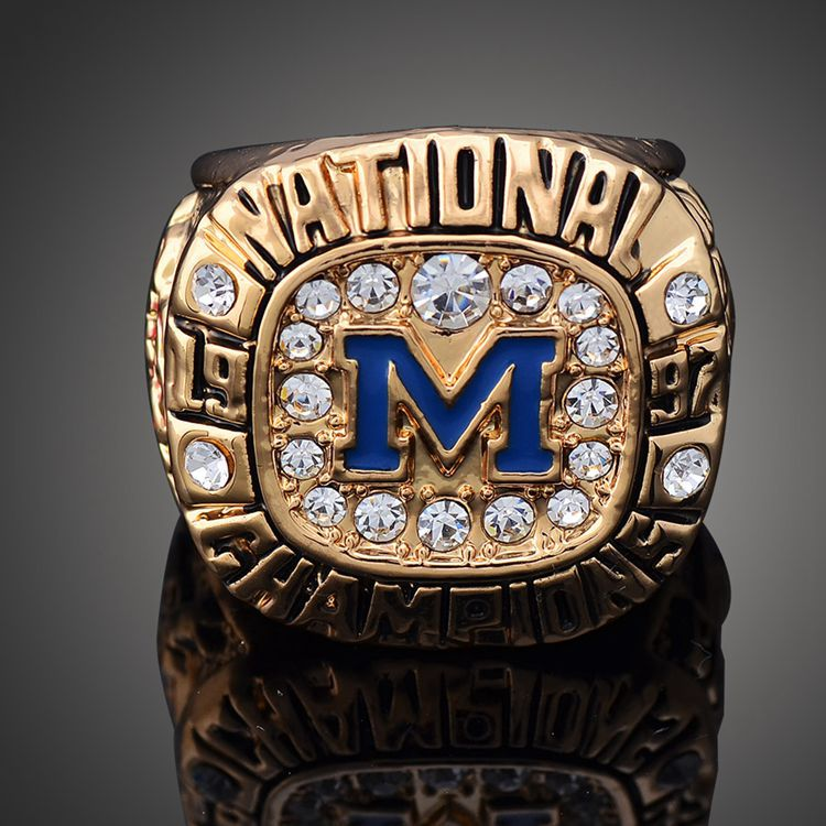 1997 Michigan Wolverines Men's Football NCAA National Championship Ring Gold, Personalized Custom Championship Rings(China (Mainland))