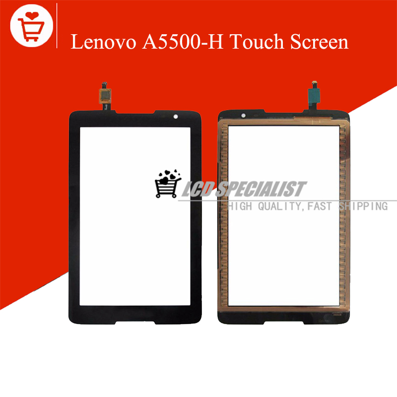 Black New For Lenovo IdeaTab A8-50 A5500 A5500-H Touch Screen Digitizer Glass Sensor Panel Lens Replacement <br><br>Aliexpress