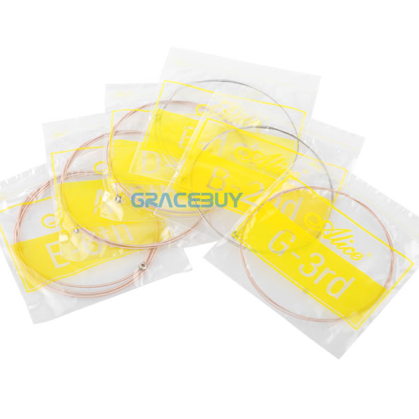 Acoustic Guitar Strings Alice Stainless Steel 6pcs Set ( 012 - 053 ) For Guitarra Bass Parts & Accessories Free(China (Mainland))