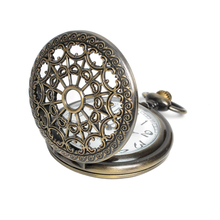 minorder $10 Bronze Antique Vintage Spider Web Hollow Pendant Necklace Quartz Steampunk Pocket Watch free sihpping(China (Mainland))