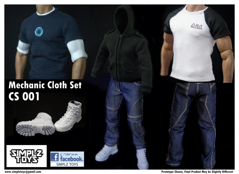 Simplz Toys 1/6 Mechanic Cloth Set FOR HOT TOYS IRON MAN TONY STARK NEW(China (Mainland))