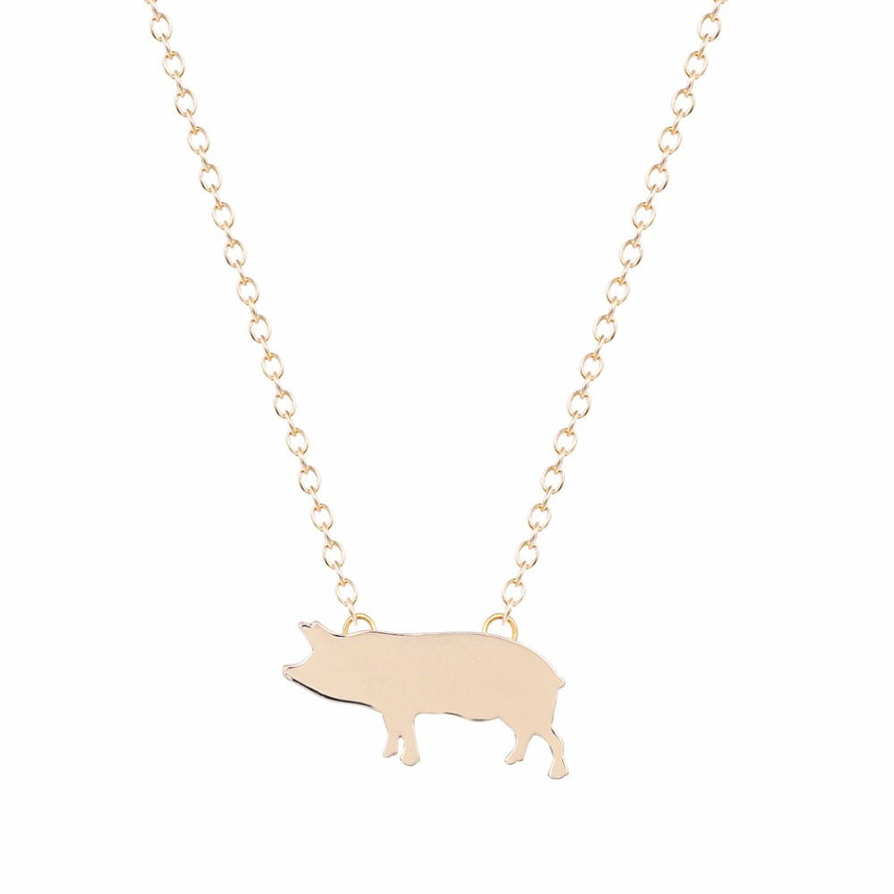 30PCS Gold Silver Pig Necklace Paris Necklaces Women Jewelry Long Necklace Boho design Nice Pig Animal Necklace Jewelry(China (Mainland))