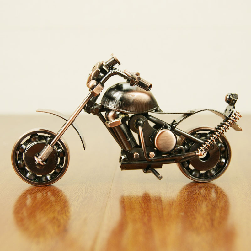 Iron motorcycle model metal crafts decoration ornaments creative practical gifts Home Furnishing jewelry(China (Mainland))