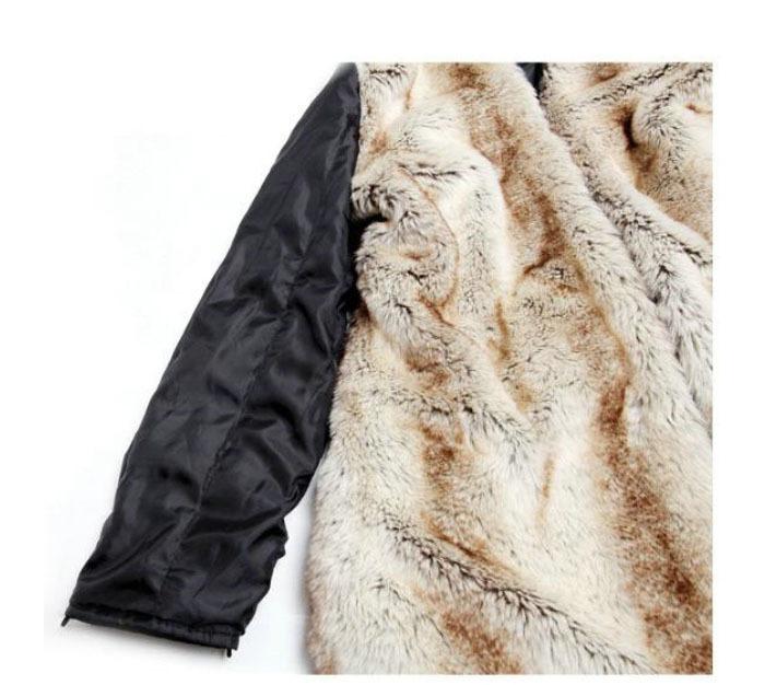 HOT 2015 Women Autumn Winter Fashion Faux Fur Lining Hoody Coat Plus Size Goose Down Parka Jacket  FWO10063