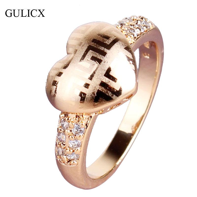 aliexpress buy gulicx fashion design finger ring 18k