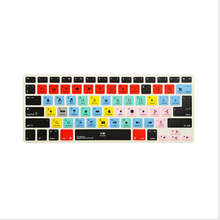 Shortcut Silicone Keyboard Cover Skin For Apple final cut pro X Functional for Macbook Air 13 inch, for Macbook Pro 13, 15 US&EU