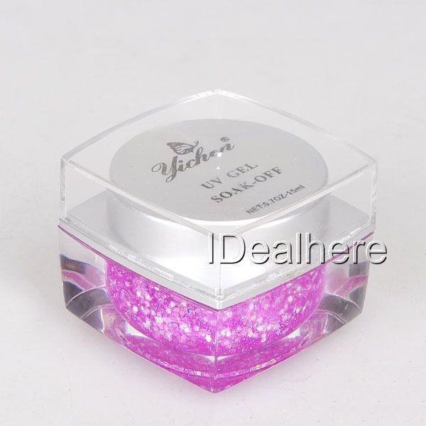 1PC #33 Fuchsia 15ml UV Gel Glitter Builder Gel Nail Art Polish High Quality(China (Mainland))