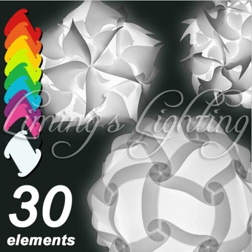 250MM Modern Contemporary DIY Elements IQ Jigsaw Puzzle ZE Lamp Shade Ceiling Pendant Lamp Novelty Lighting Ball Light 110-240V(China (Mainland))