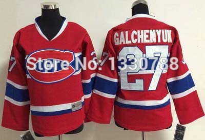 Year 2015 Canadians #27 Alex Galchenyuk Youth Jersey Red Home Stitched Montreal Canadiens Kids Hockey Jerseys Shirt