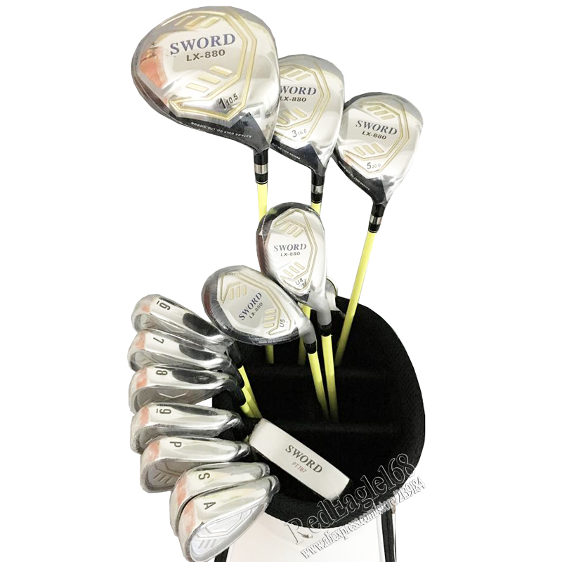 New Golf clubs SWORD LX-880 Compelete club set Driver+3/5 fairway wood+irons+Hybrid wood Graphite Golf shaft Free shipping(China (Mainland))