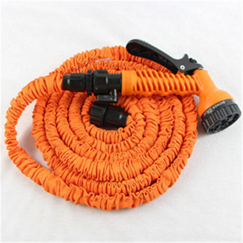 Expandable Rubber Magic Garden Hose for Watering-25FT/7.5M with 7 Set Spray Nozzle Drip Irrigation Retractable Garden Hose Reels(China (Mainland))