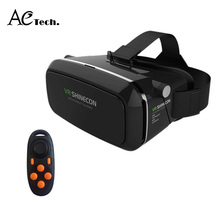 Free Ship Remote Control Gamepad+Shinecon 3D VR Glasses Virtual Reality Head Mount Magic Google Cardboard for 3.5″~6″ Smartphone
