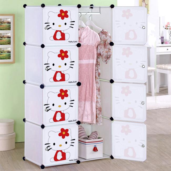 Aliexpress Com Buy Cartoon Child Simple Wardrobe Baby Wardrobe Folding Toy Storage Cabinet
