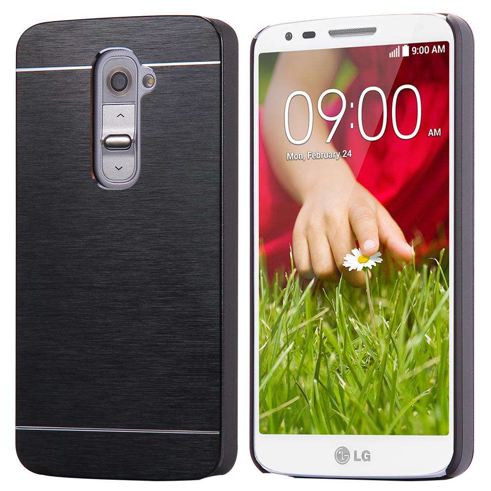 g2 slim armor case hard metal aluminum cover for LG Optimus G2 D801 D802 F320 LS980 light cell phone shell cable + original logo(China (Mainland))