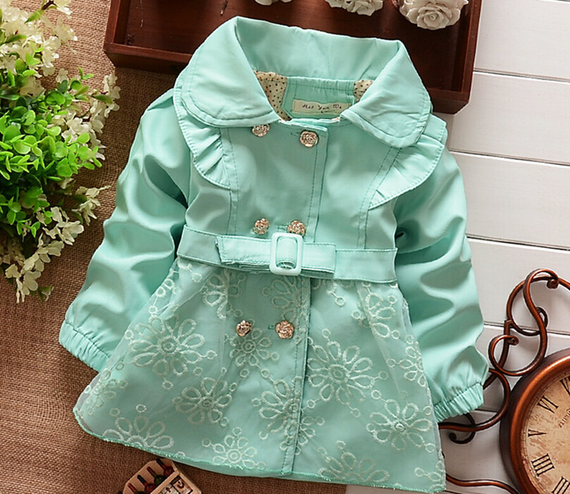 Retail 1PC new 2015 spring and autumn baby girls populal out wear Children outerwear girls high quality new arrive(China (Mainland))