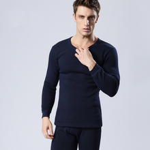 Free Shipping 2015 Men's Thick Thermal Underwear Sets Men Plus Thick Velvet Suit Thermal Underwear Manufacturers Wholesale(China (Mainland))