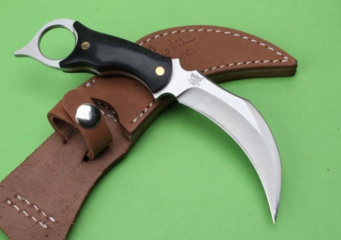 Buy 5Cr13 Blade Micarta Handle Small Hunting Knife,United Karambit Tactical Fixed Knives, Survival Knife. cheap