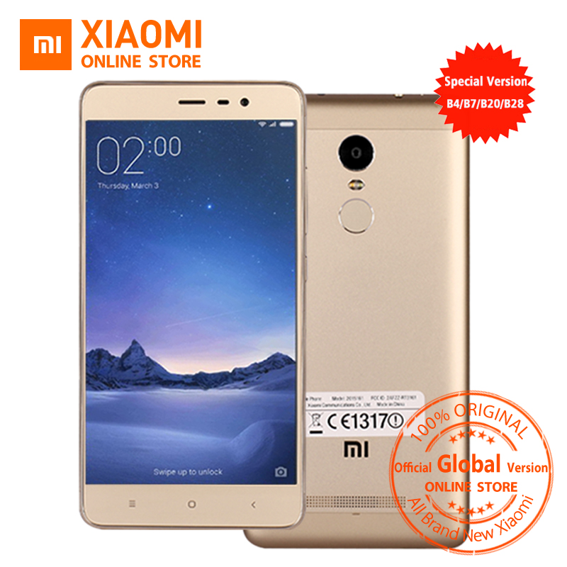 Official Global Version Xiaomi Redmi Note 3 pro prime special Edition Mobile phone 5.5 Inch 3GB 32GB 16.0MP LTE B20 B28 MIUI8.1(China (Mainland))