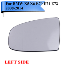 Buy Left Side BMW X5 X6 E70 LCI E71 E72 M Sport SUV xDrive 2008-2014 Wide Angle Heated Wing Mirror Glass Brackets #W106-L for $33.59 in AliExpress store