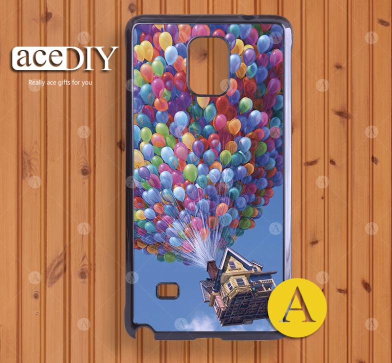 Surprise! Flying House Painted hard case cover for samsung Galaxy Note 4 Wholesale and retail-A50252(China (Mainland))
