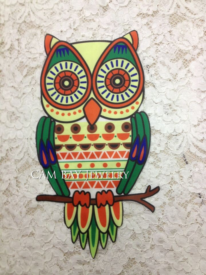 2016 Korean hot Owl pattern heat transfer heat transfer iron on DIY home accessories garment materials(China (Mainland))