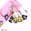 5pcs set Sailor Moon Cute Version Cellphone Keychain Figure Pendants Japanese Anime Toys Gifts F