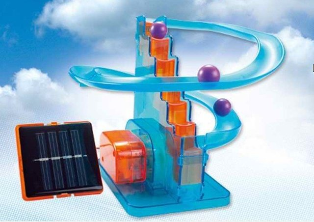 Novelty  Educational Solar Power Roller Coaster Toys  For Kids Free shipping