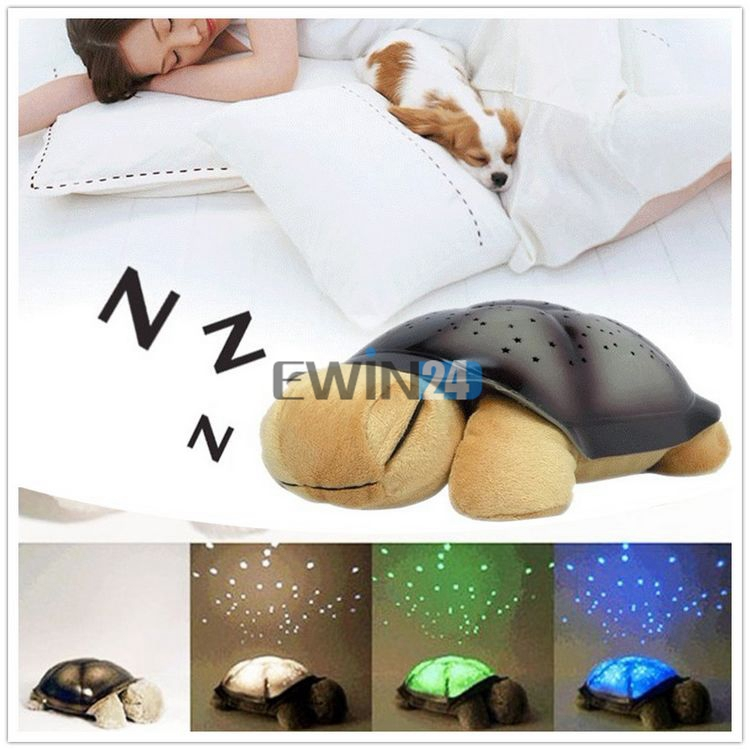 1 x Turtle Night Light Kid Baby Twilight Sleep Toy Stars Constellation Led Lamp Baby Care Lighting free shipping(China (Mainland))