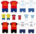 Free shippment Baby Summer cute national team personalized onesie romper football fans Customized jumpsuit for infantbaby