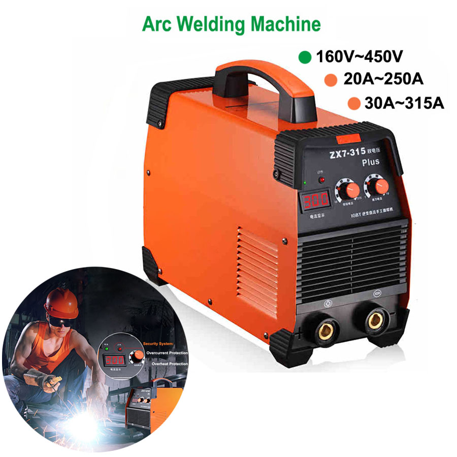 160-450V 20-315A Flagship IGBT Inverter Portable Arc Welder Equipment Electric Welding Machine ZX7-250 315 With Electrode Holder(China (Mainland))