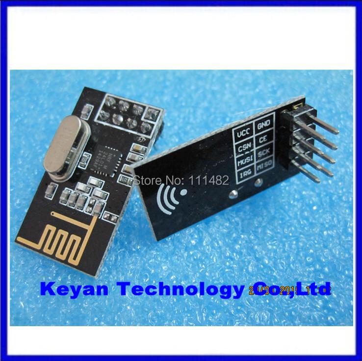 10PCS/LOT NRF24L01+ wireless data transmission module 2.4G / the NRF24L01 upgrade version(China (Mainland))