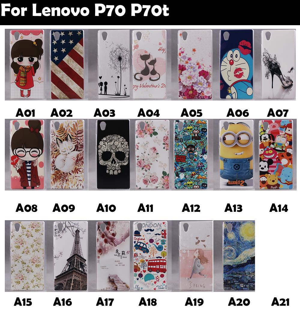 Hard Plastic PC Cover Case For Lenovo P70 P70t Supper Rose Flowers Tower Man Cat Girl Flat Skull(China (Mainland))