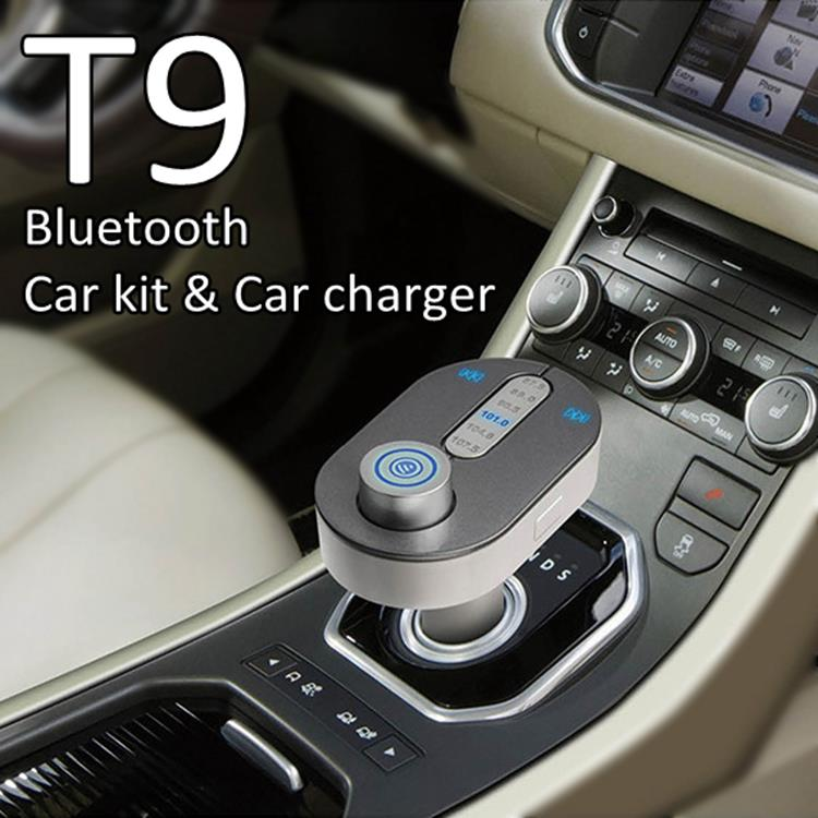 Newest Bluetooth Car Kit Handsfree FM Transmitter With USB Charger Port For Smart Phone Iphone Support A2DP,TF Card Music player(China (Mainland))