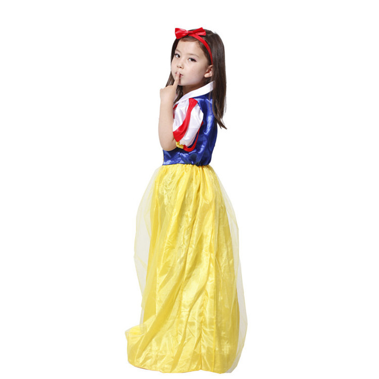 Beatiful Girls Snow White 5T-12T Children Clothing Set Kids Clothes Polyester Baby Girl Clothes Childrens Lover Sets Best Gift(China (Mainland))