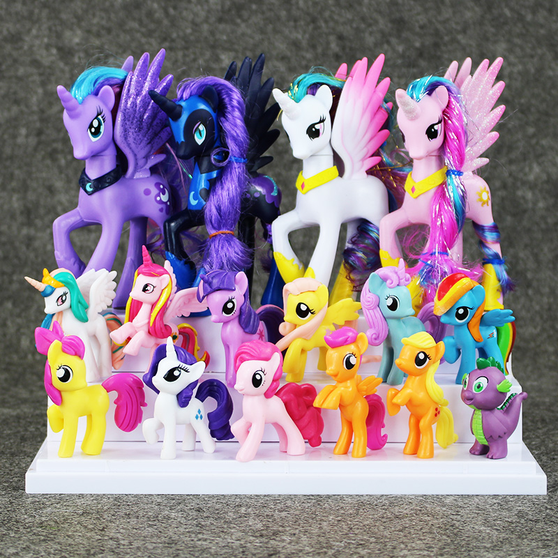 New Version Cute Action font b Figure b font Toys Collection pawl Cute patroled PVC Unicorn