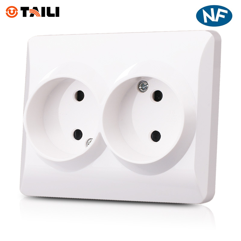 Manufacturer TAILI, Wall Socket 220V Russian Standard Wall Power Socket AC 110~250V 16A Wall Outlet Plug Double Socket(China (Mainland))