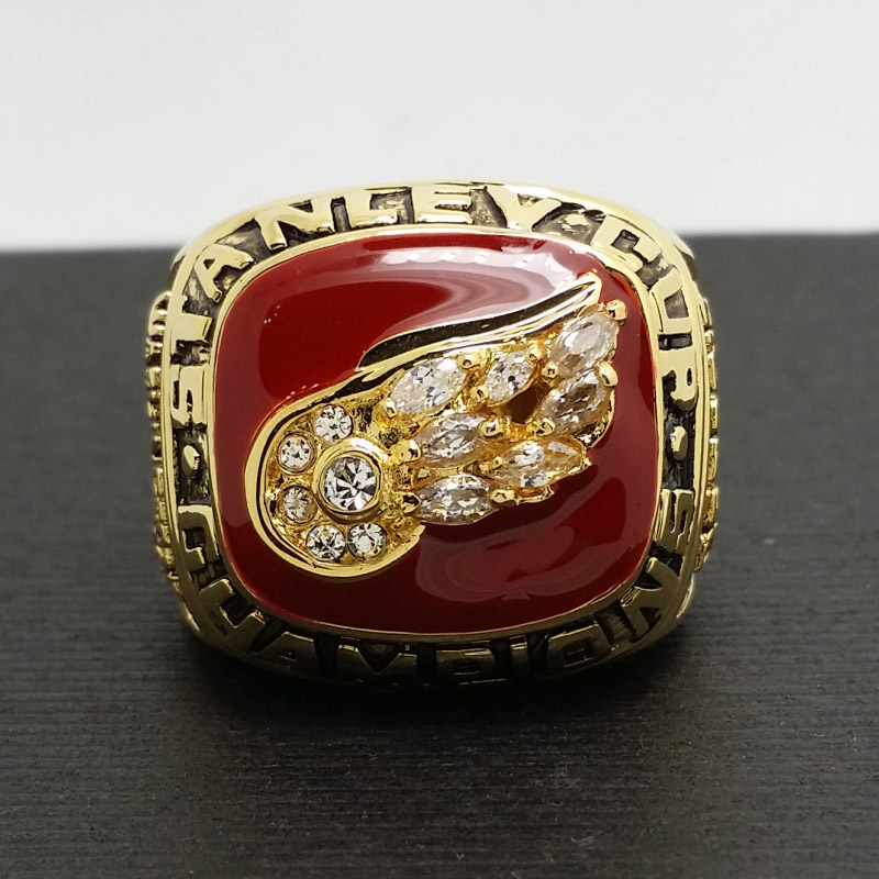 1998 Detroit Red Wings Stanley Cup Hockey Championship Copper Ring 8-14size 18K plated collection(China (Mainland))