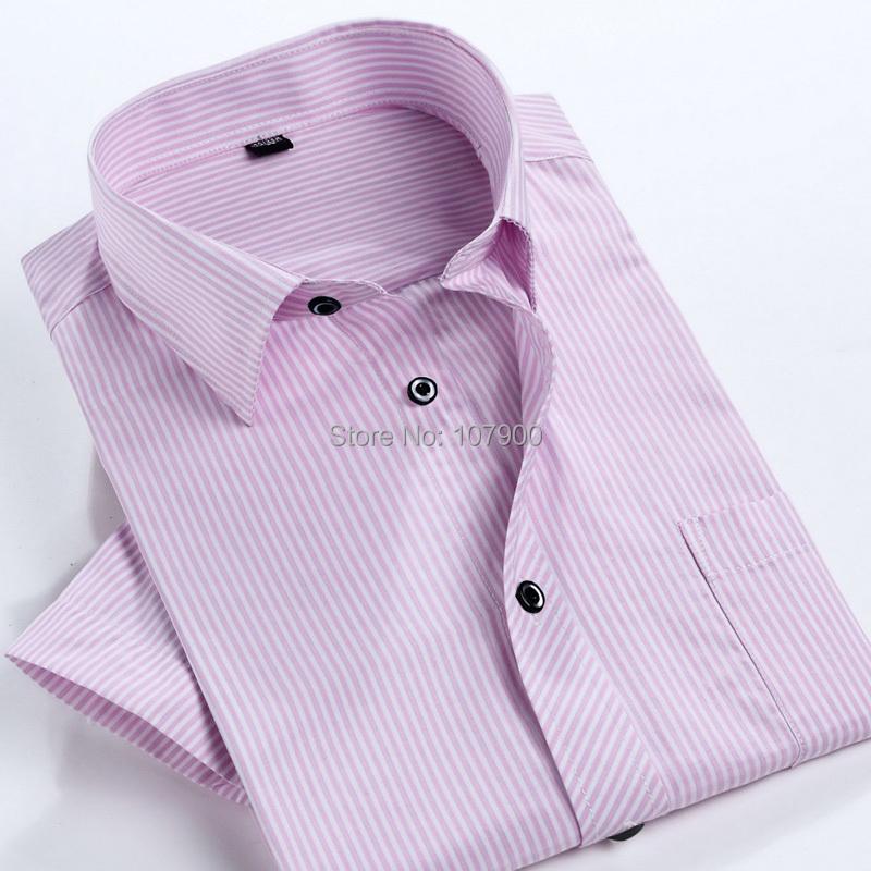 Fashion Men Shirt short sleeve Casual Social Male Dress Shirts man Slim striped shirt high quality