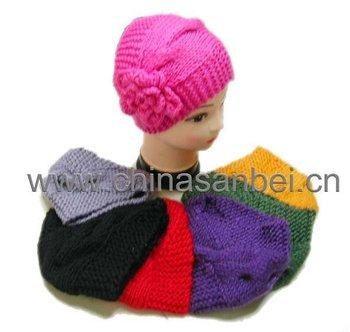 2011 lastest style handmade headband crochet flower head wrap headbands