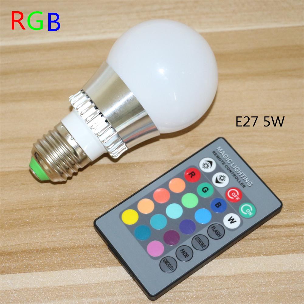 5W AC85-265V New Colourful RGB Led Spotlight Spot light RGB LED Bulb Light For Holiday KTV Bar Disco Party RGB Led Lamp(China (Mainland))